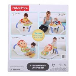 Chodítko -  jídelní židlička veselá opička 4v1 FISHER PRICE CBV66