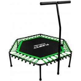 FUNFIT FITNESS Trampolína 130 cm zelená + madlo 120kg